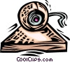 computer camera Vector Clipart illustration