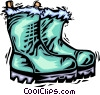 Vector Clip Art image  of a winter boots