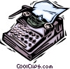 Typewriters Vector Clip Art graphic