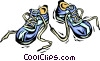 Vector Clipart picture  of a running shoes