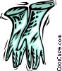 Rubber Gloves Vector Clip Art image