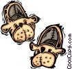 Vector Clip Art image  of a slippers