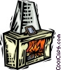 Vector Clipart image  of a Fireplace