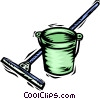 Vector Clipart illustration  of a Mops and Pails