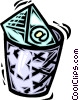 Vector Clipart illustration  of a Garbage Waste Trash