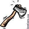 Vector Clipart graphic  of an Axes Hatchets