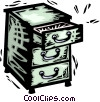 Vector Clip Art image  of a Drawers and Cabinets
