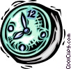 Wall Clocks Vector Clipart illustration