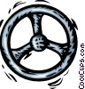 Vector Clip Art graphic  of a steering wheel