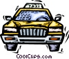 Vector Clipart picture  of a Taxi cab