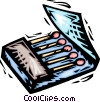 Vector Clipart picture  of a matches