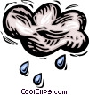Rain clouds Vector Clipart illustration