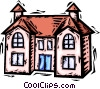 Vector Clip Art graphic  of a Rural Housing
