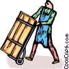 Vector Clipart graphic  of a shippers