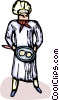 Vector Clipart image  of a chef