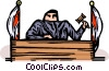 judge Vector Clipart illustration
