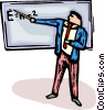 Vector Clip Art image  of a physics teacher