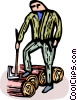 forestry worker Vector Clipart picture