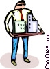 Vector Clipart image  of an architect