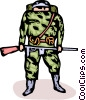 soldier Vector Clipart graphic
