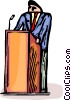 Vector Clip Art image  of a Public speaker