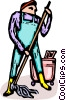 Vector Clipart graphic  of a custodian