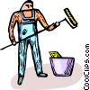 Vector Clip Art graphic  of a professional painter
