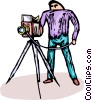 Vector Clipart image  of a photographer