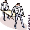 men with a stretcher Vector Clipart picture