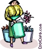 florist Vector Clipart illustration