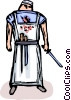 Vector Clip Art picture  of a butcher