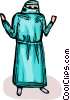 Vector Clipart graphic  of a surgeon