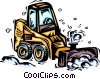 Vector Clipart graphic  of a Snow plow
