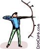 Vector Clip Art image  of an archer