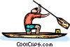 kayaker Vector Clip Art graphic