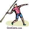 Vector Clipart graphic  of a Javelin thrower
