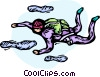 Vector Clip Art graphic  of a Sky diver