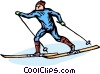 Vector Clipart illustration  of a cross-country skier