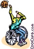 wheelchair basketball player Vector Clip Art picture