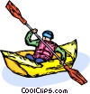 paddler Vector Clip Art picture