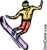 snowboarder Vector Clipart picture