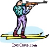 Vector Clipart graphic  of a biathlete