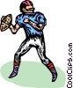 Vector Clip Art image  of a Football player