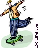 person on a skateboard Vector Clipart image