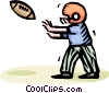 Vector Clipart graphic  of a football player