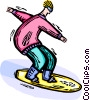Snowboarder Vector Clipart graphic
