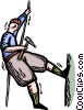 Vector Clipart illustration  of a rock climber