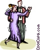 Vector Clipart image  of a couple dancing