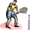 Tennis player Vector Clip Art picture