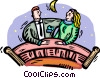 Vector Clipart picture  of a couple
